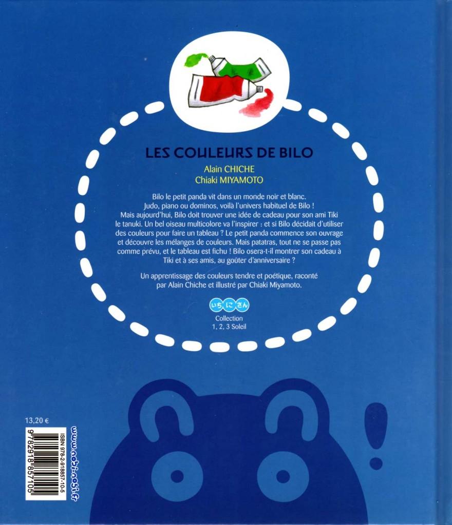 Dos du livre Les couleurs de Bilo (nobi nobi !)