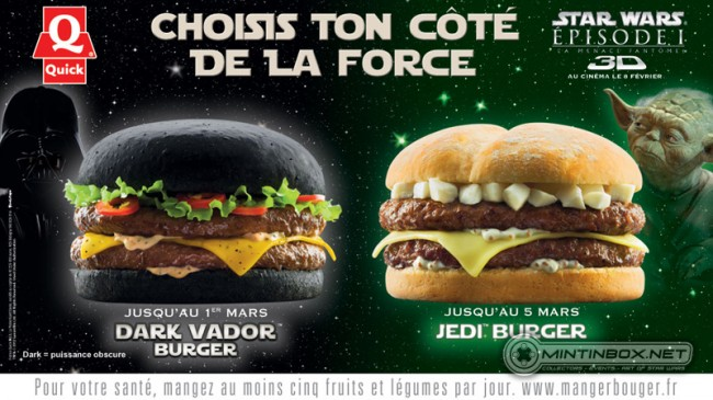 Publicité Quick / Star Wars
