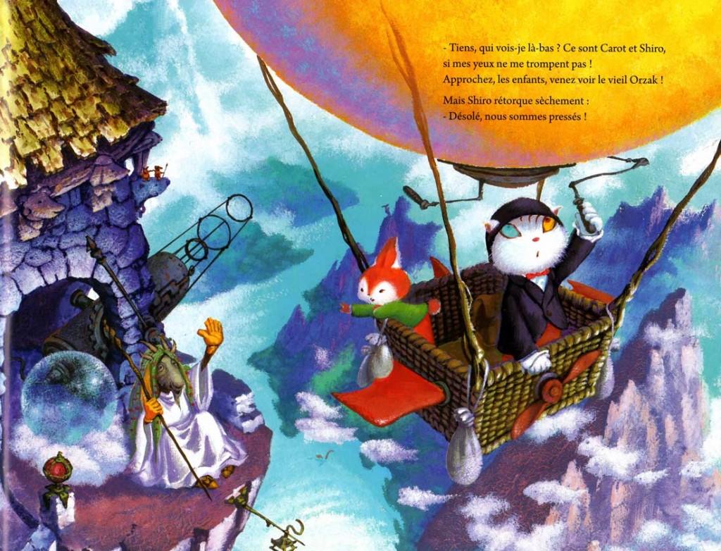 Shiro s'envole en montgolfière avec son ami Carot