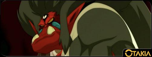 Tristepin transformé en singe fusionne avec Rubilax (Wakfu)