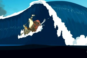 Le bateau de Yugo est pris dans une vague géante