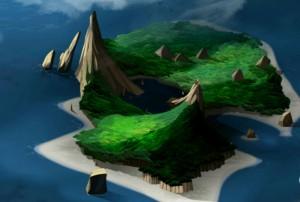 L'île a une forme de tête de mort