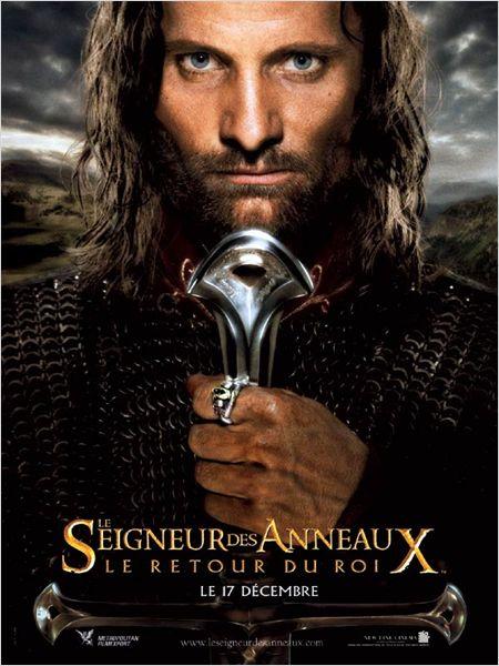 Affiche du Seigneur des Anneaux avec Aragorn