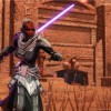 Sith de Star Wars : The old Republic avec 2 sabres