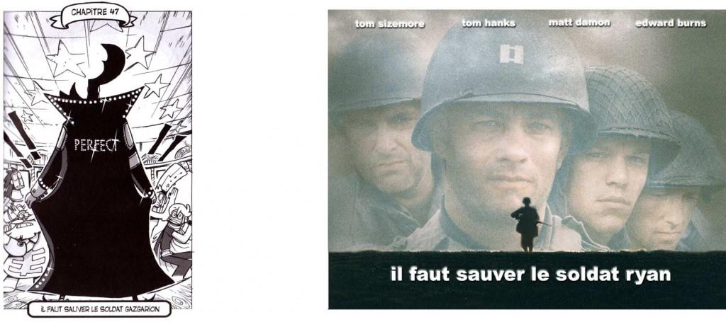 Le titre du chapitre Il faut sauver le soldat Gazgarion est une allusion au film Il faut sauver le soldat Ryan