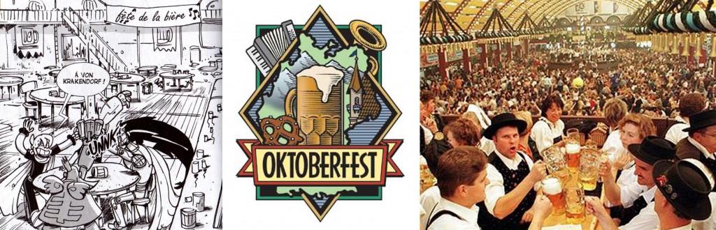 La fête de la bière est une allusion à l'Oktoberfest