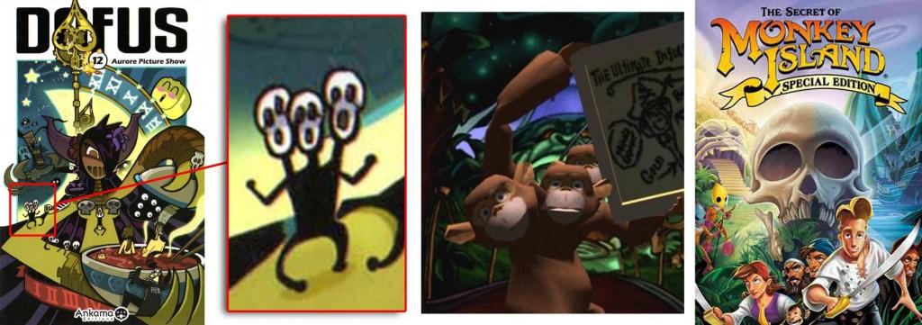 le Goule à trois têtes est un clin d'œil à la saga de jeux vidéo Monkey Island