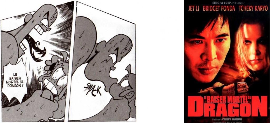 L'attaque nommée le Baiser Mortel du Dragon est une allusion au film Le Baiser Mortel du dragon réalisé par Chris Nahon