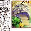 l'entrée du château d'Ombrage a été inspirée par l'entrée de l'île aux singes dans le jeu vidéo Monkey Island