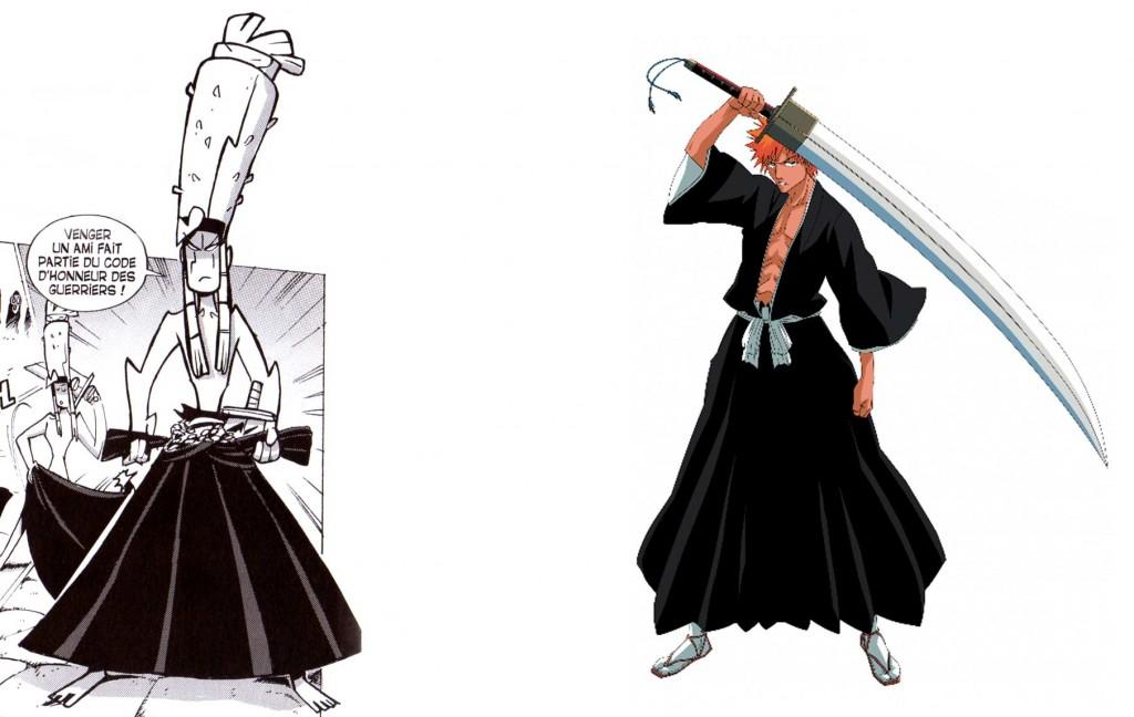 Goultard s'habille comme un shinigami de Bleach