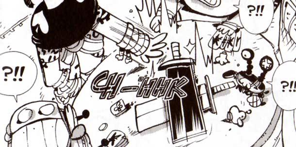 Les deux épées étant posées l'une sur l'autre, leur pouvoir respectif s'annulent (Dofus)