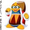 Le vendeur de cette échoppe est King Dedede le boss de fin de Kirby's Dream Land