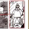 on peut voir dans la foule les personnages de Wallace et Gromit