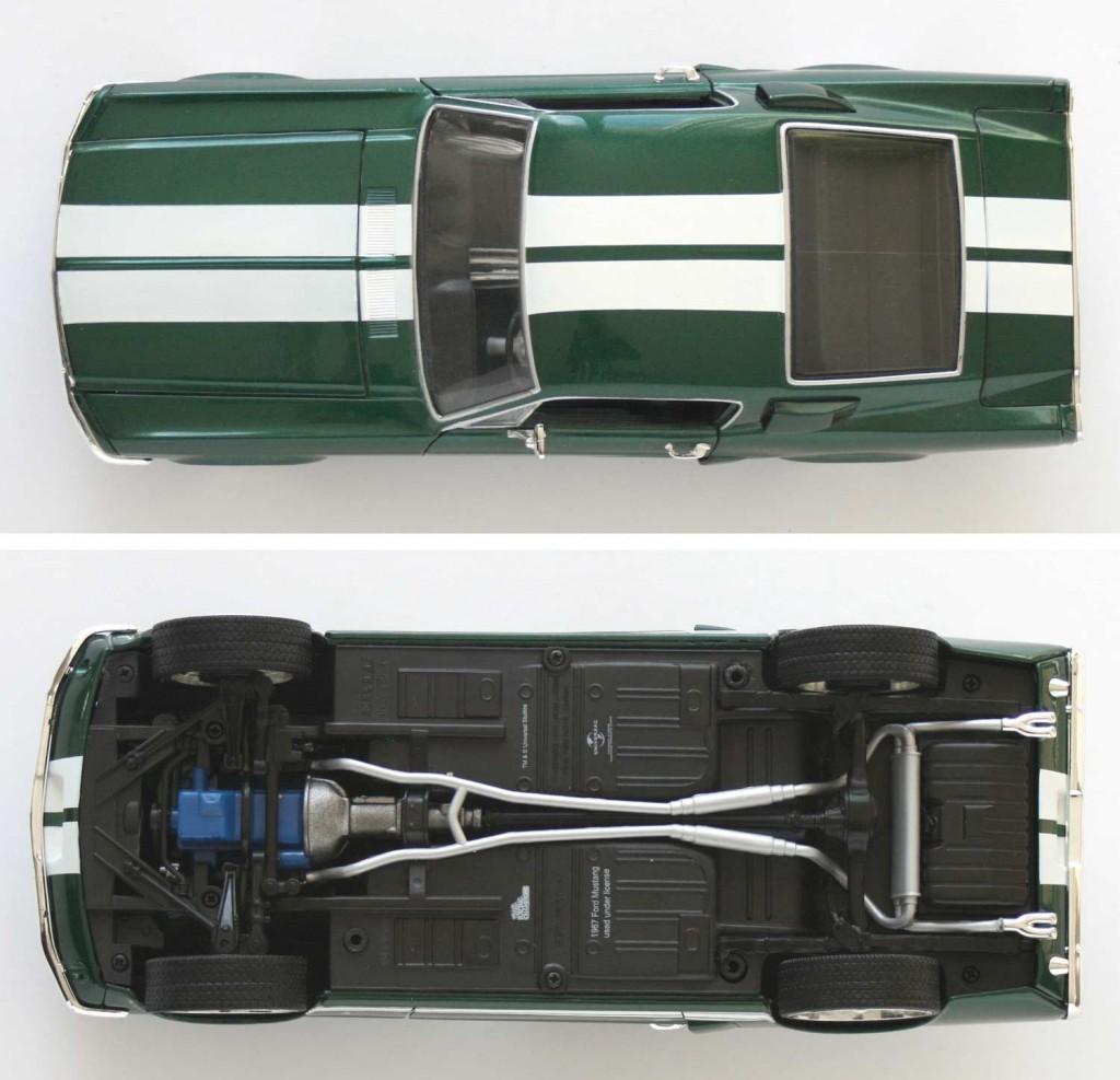 Vue dessus et dessous de la Ford Mustang (Fast & Furious 3)