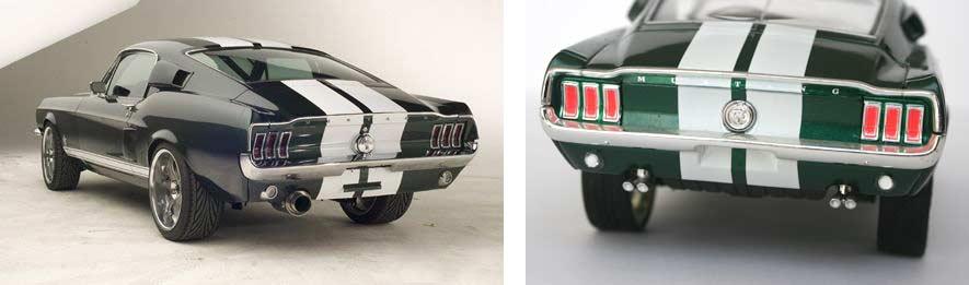Le pot d'échappement est celui de la Mustang et non celui de la Nissan