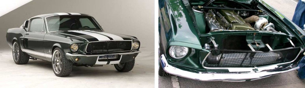 Le moteur de la Mustang a été remplacé par celui d'une Nissan Skyline GTR