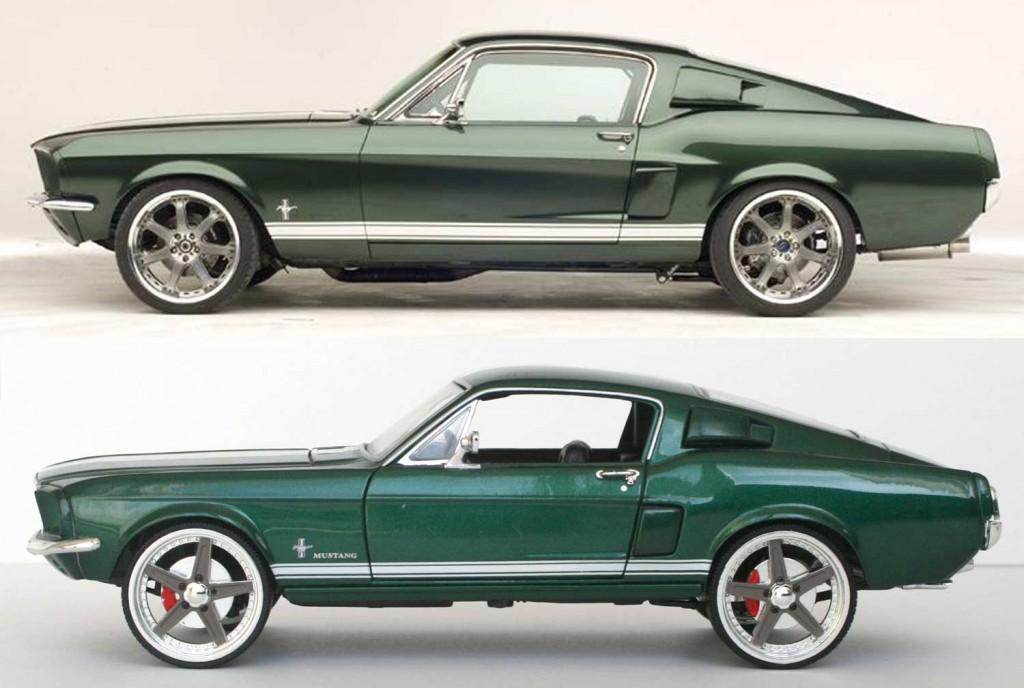 A part les roues, le reste est assez fidèle à la Mustang du Film Fast en Furious