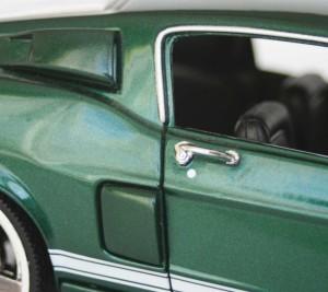 Poignées de porte de la Mustang