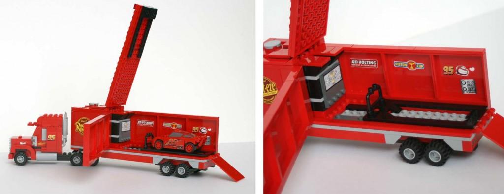 La remorque peut s'ouvrir (Mack Lego 8486 - Cars)