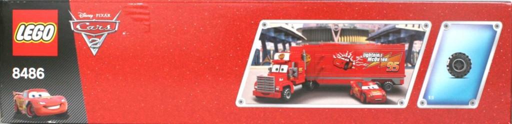 Vue du dessus du Packaging Lego 8486 : Mack & Flash Mc Queen (Cars)