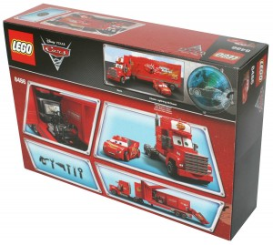 Dos du Packaging Lego 8486 : Mack & Flash Mc Queen (Cars)