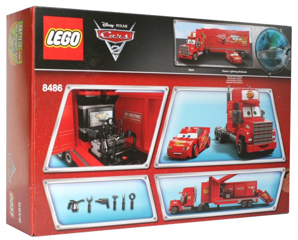 lego 8486 mack flash mcqueen cars dos du packaging lego 8486 mack flash mc queen cars. Black Bedroom Furniture Sets. Home Design Ideas