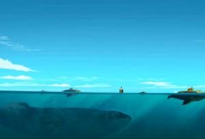 Les sous-marins évoquent les baleines bleues (Wakfu)