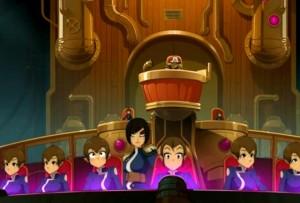 La passerelle du sous-marin est presque uniquement composée de femmes (Wakfu)