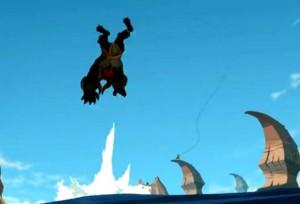 Goultard projette Rushu dans les airs