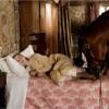 Image du segment français avec Joey et Emilie allongé dans un lit (tiré du film Cheval de Guerre de Steven Spielberg)