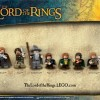 Personnage Lego Frodo, les Hobbit Merry et Pipin, Boromir, Aragorn, Legolas, Gandalf et Gimli