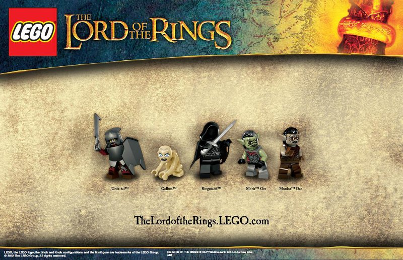 Gollum, Orcs du seigneur des anneaux Lego