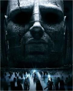 Affiche du film Prometheus (le prequel / spin off d'alien)