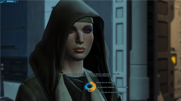 Star Wars : The Old Republic écran de choix de dialogue