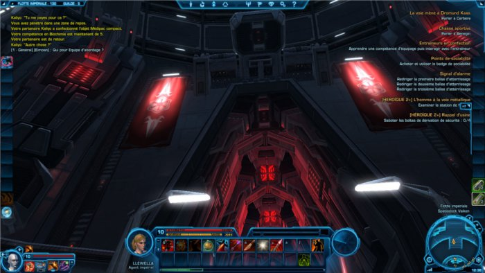 Star Wars : The Old Republic exemple d'interface