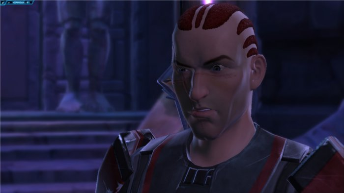 Star Wars : The Old Republic Gros plan de visage d'un Sith