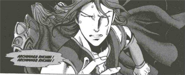 Gros plan d'Aodhan dans le manga Mage (Warcraft)