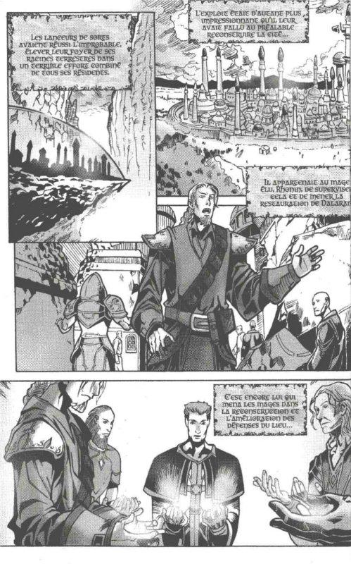 Page 3 du manga Mage où l'histoire de la ville est racontée (Warcraft)
