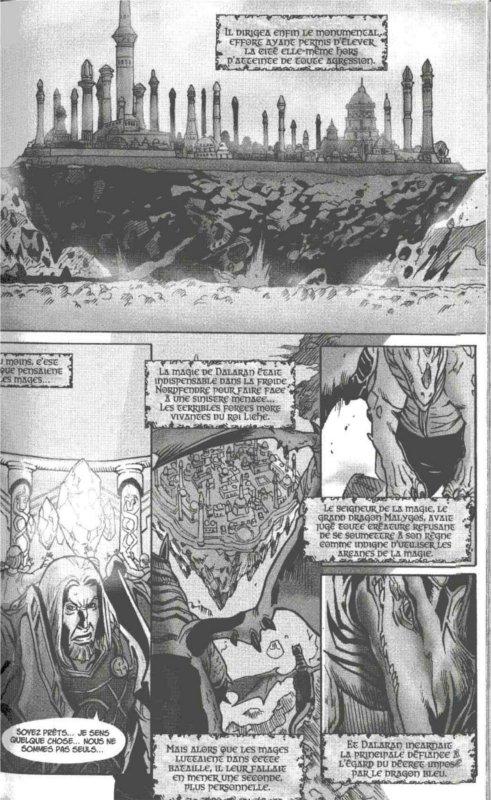 Page 4 du manga Mage où l'histoire de la ville se continue (Warcraft)