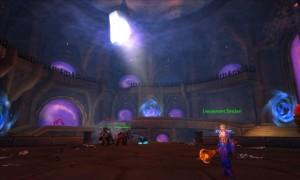 Image de l'intérieur de la citadelle pourpre, instance tirée de la colère du roi liche (Dalaran, capture tirée du jeu World of Warcraft)