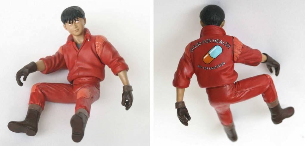 La figurine de Kaneda sans sa moto (Bandai)