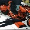 Tome 8 d'Akira lorsque Kaneda redécouvre cette moto en cours de restauration