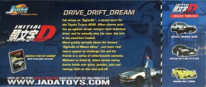 Dos du Packaging Initial D : Initial D : Toyota Trueno AE 86 - ech 1/18 (Jada Toys)