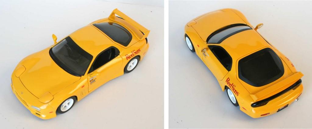 Initial D : Mazda RX 7 FD3S - ech 1/18 (Jada Toys) - plongée