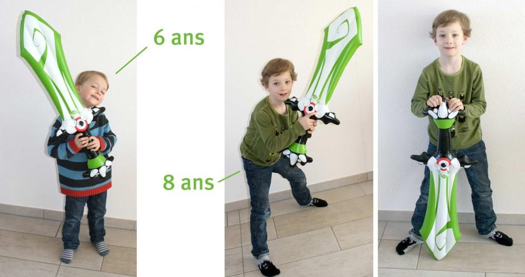 Le Rubilax gonflable est adapté aux enfants comme aux adultes