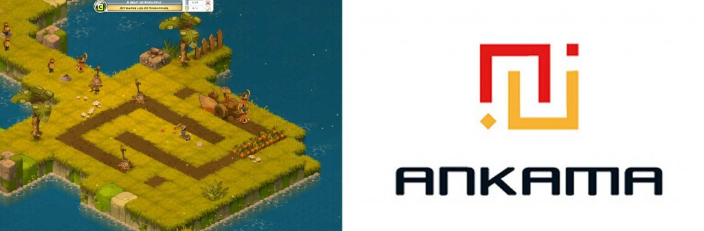 On peut voir que la charrue a dessiné le logo d'Ankama (MMO Wakfu)