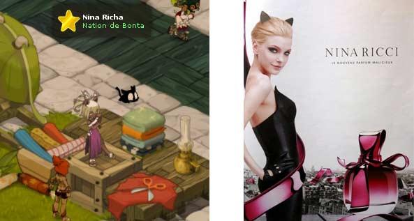 La couturière nommée Nina Richa est une allusion à la marque de haute couture et de parfums Nina Ricci.