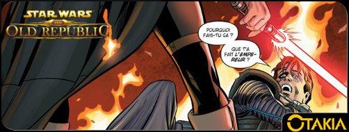 Header Otakia comics Star Wars : The Old Republic le sang de l'empire