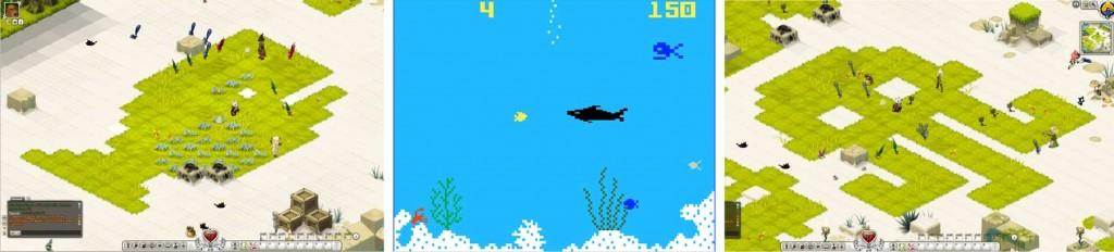 Le poisson évoque ceux du jeu Shark ! Shark ! dela console Intellevision de Mattel (Wakfu)