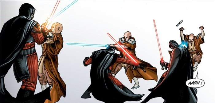 Star wars the old republic comics le trait de for Dans jeannot et colin l auteur combat